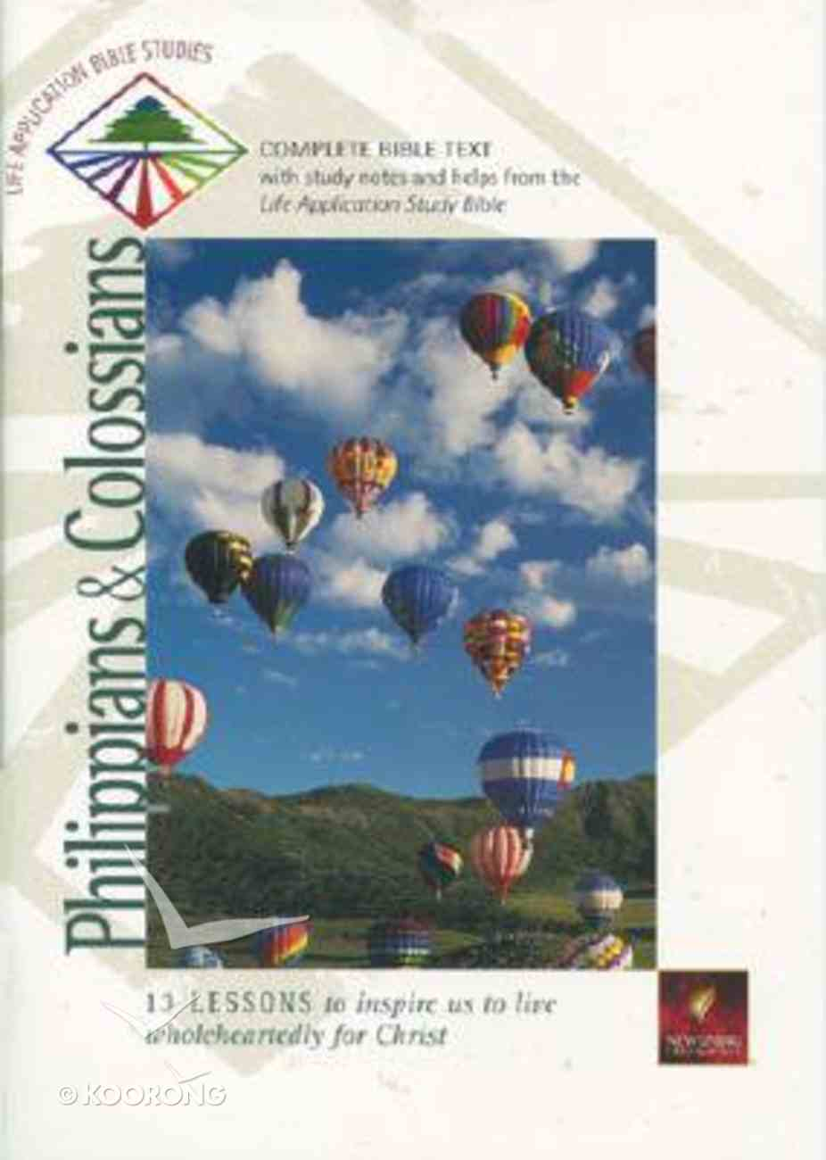 Labs NLT Philippians & Colossians (Life Application Bible Study Series) Paperback