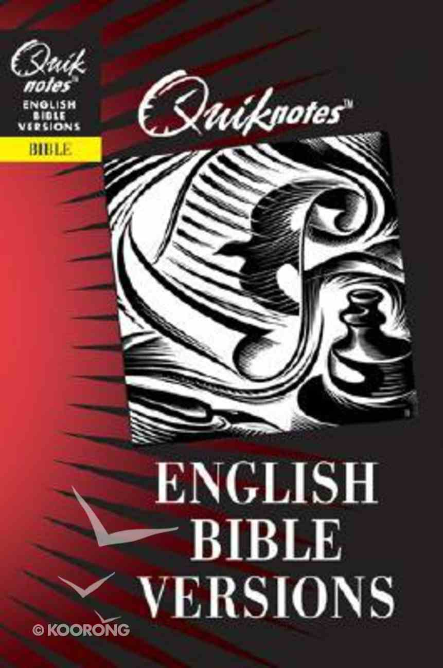 English Bible Versions (Quiknotes Series) Paperback
