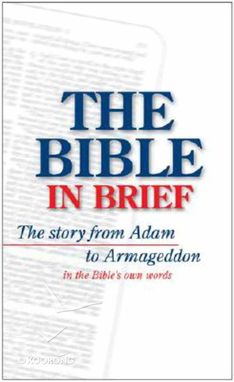 The Bible in Brief Paperback