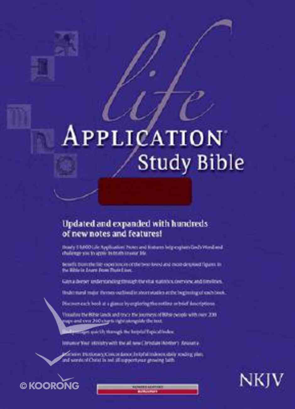 NKJV Life Application Study Bible 2nd Edition Burgundy Indexed (Red Letter Edition) Bonded Leather