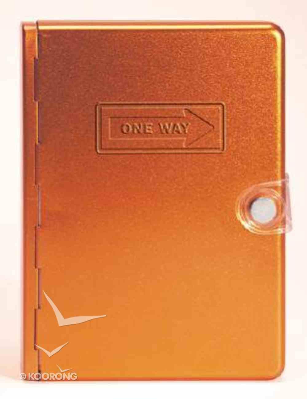 NLT Metal Bible Orange One Way Metal