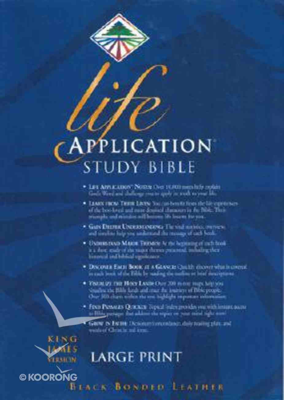 KJV Life Application Study Large Print Black Indexed (Red Letter Edition) Bonded Leather