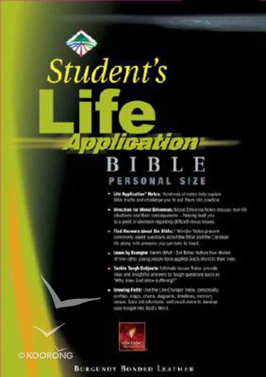 NLT Student's Life Application (Personal Size Burgundy) Bonded Leather
