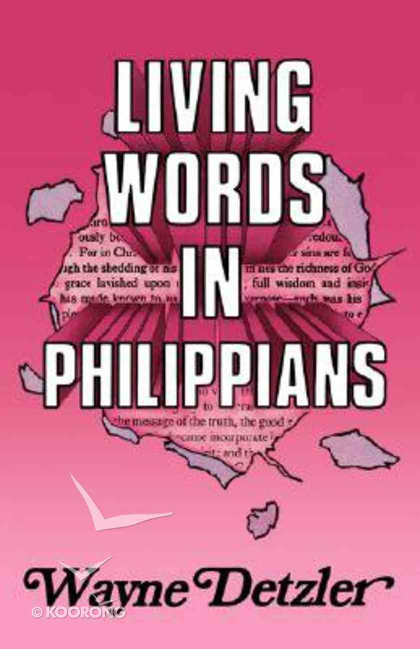 Living Words in Philippians Paperback