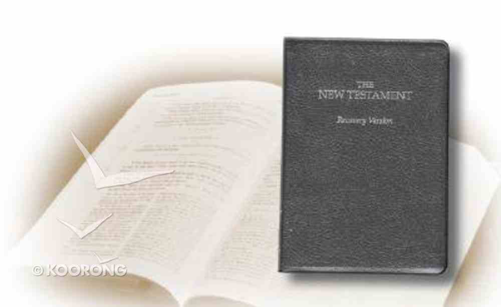 Recovery Version New Testament (Small Black) Bonded Leather
