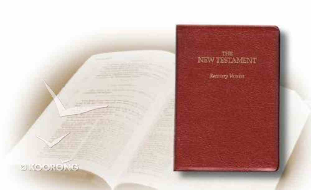 Recovery Version New Testament (Small Burgundy) Bonded Leather