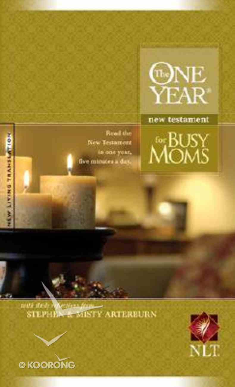 NLT One Year New Testament For Busy Moms (Black Letter Edition) Paperback