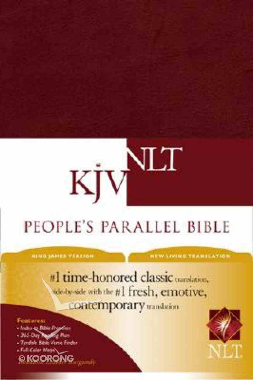 NLT KJV People's Parallel Bible Burgundy (Black Letter Edition) Imitation Leather