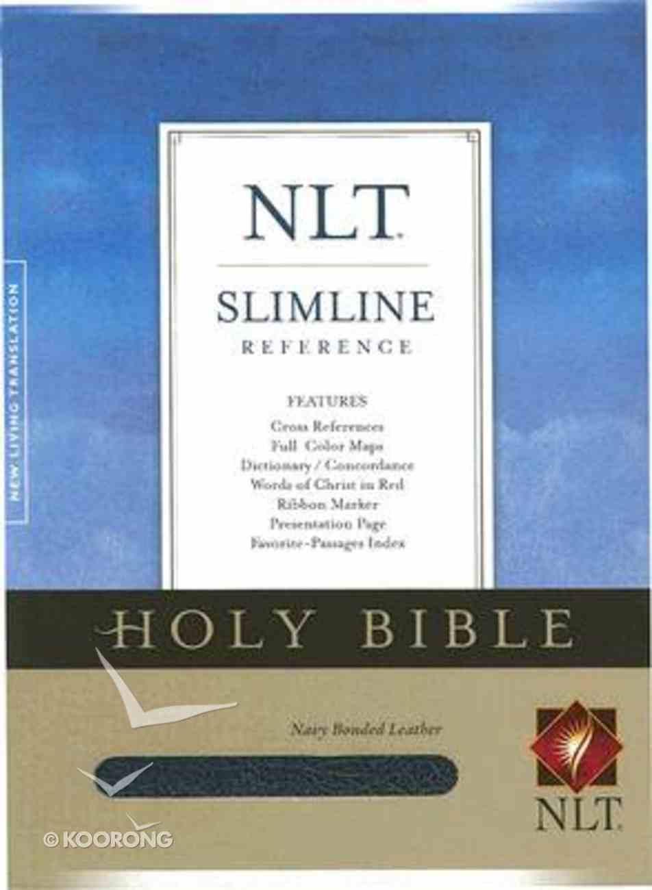 NLT Slimline Reference Navy (Red Letter Edition) Bonded Leather