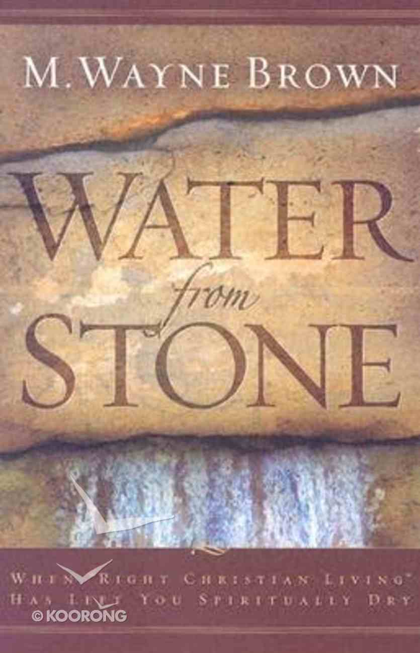 Water From Stone Hardback