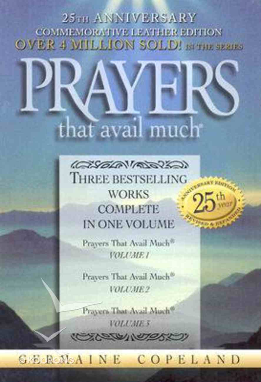 Prayers That Avail Much (25Th Anniversary Leather Gift Edition-Navy) (Prayers That Avail Much Series) Genuine Leather