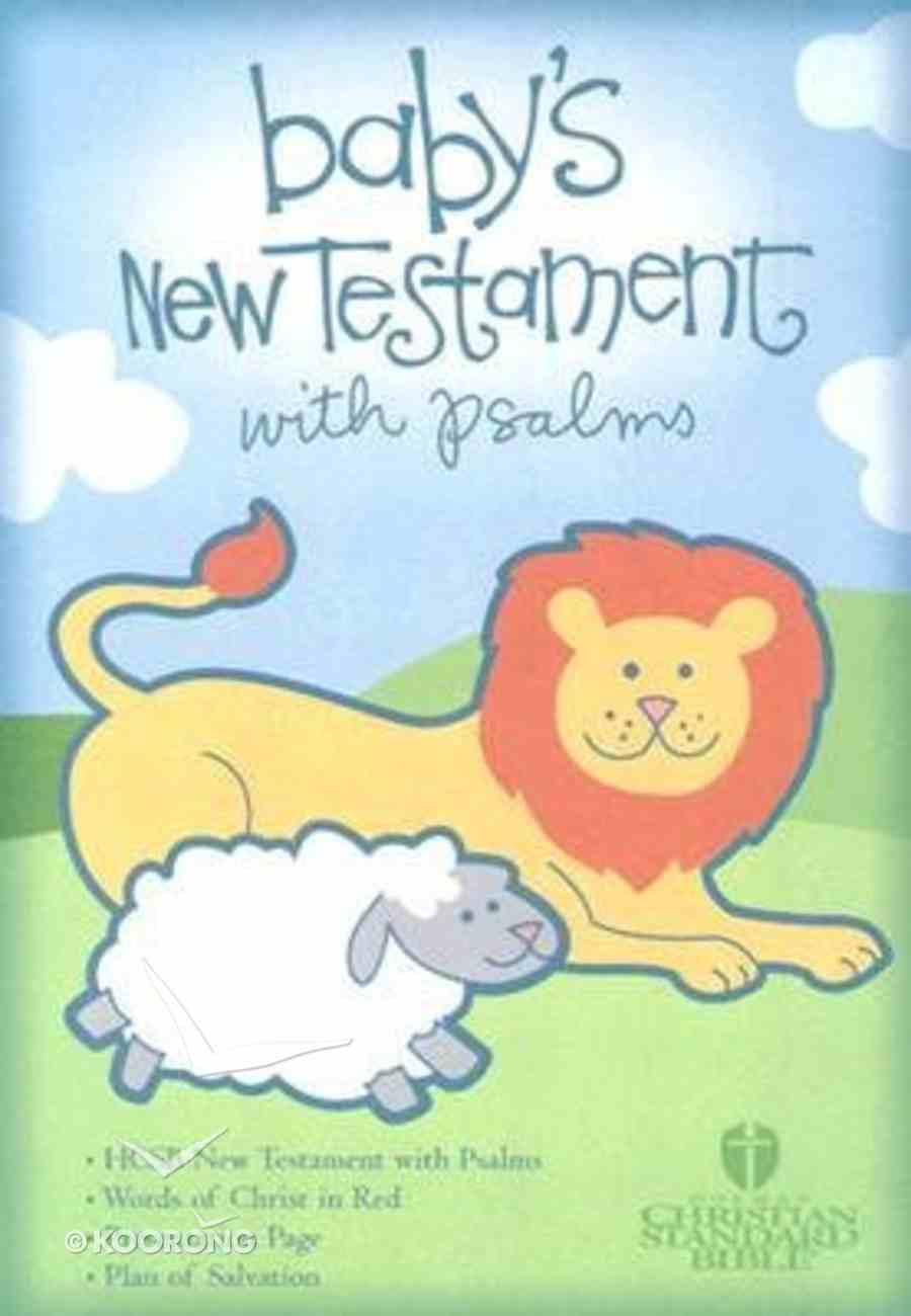 HCSB Baby's New Testament With Psalms Light Blue (Red Letter Edition) Imitation Leather