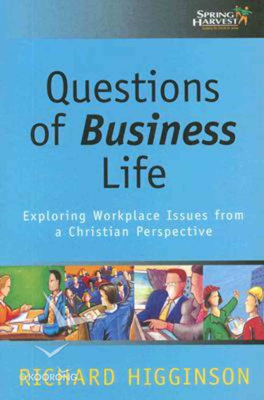 Questions of Business Life Paperback