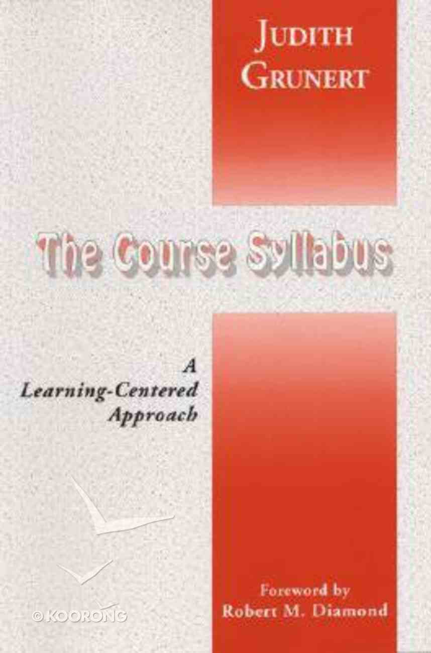 Course Syllabis: A Learning-Centred Approach Paperback