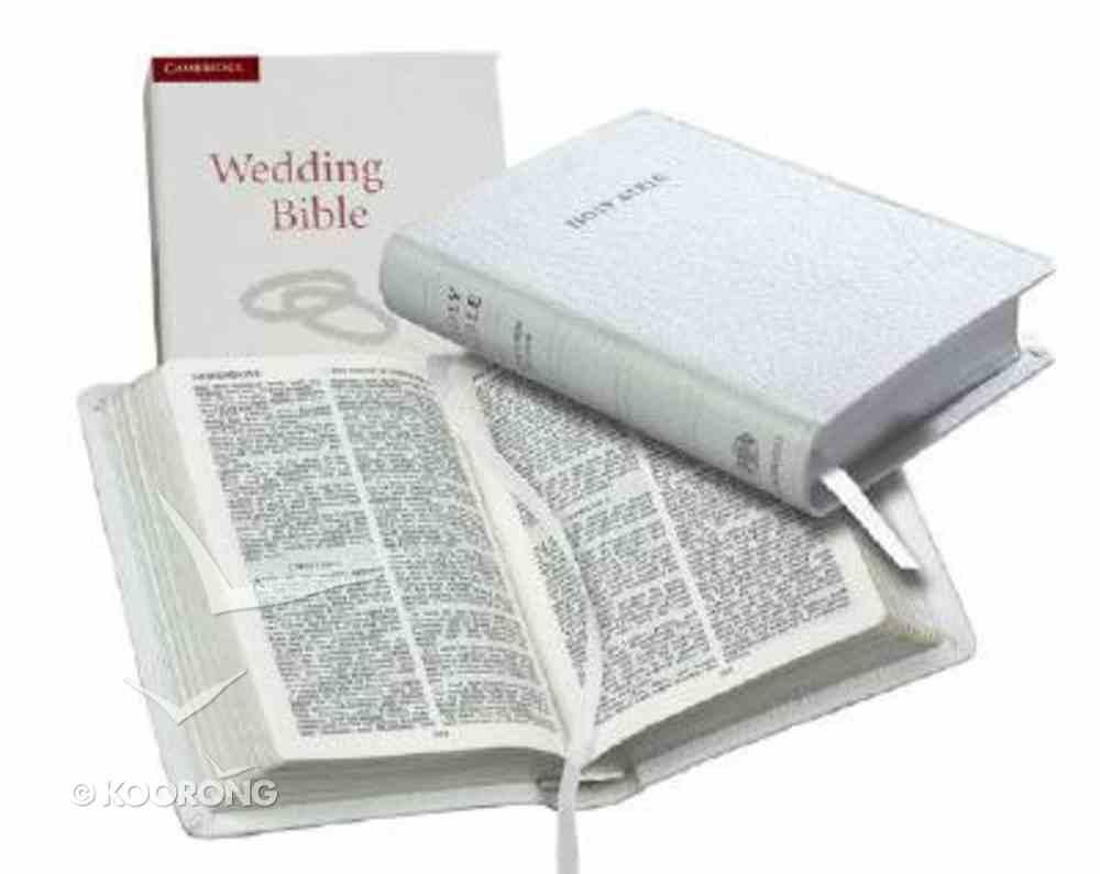 KJV Wedding Bible White (Black Letter Edition) Morocco Leather (Sheepskin)