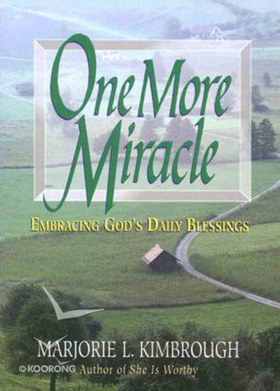 One More Miracle Paperback