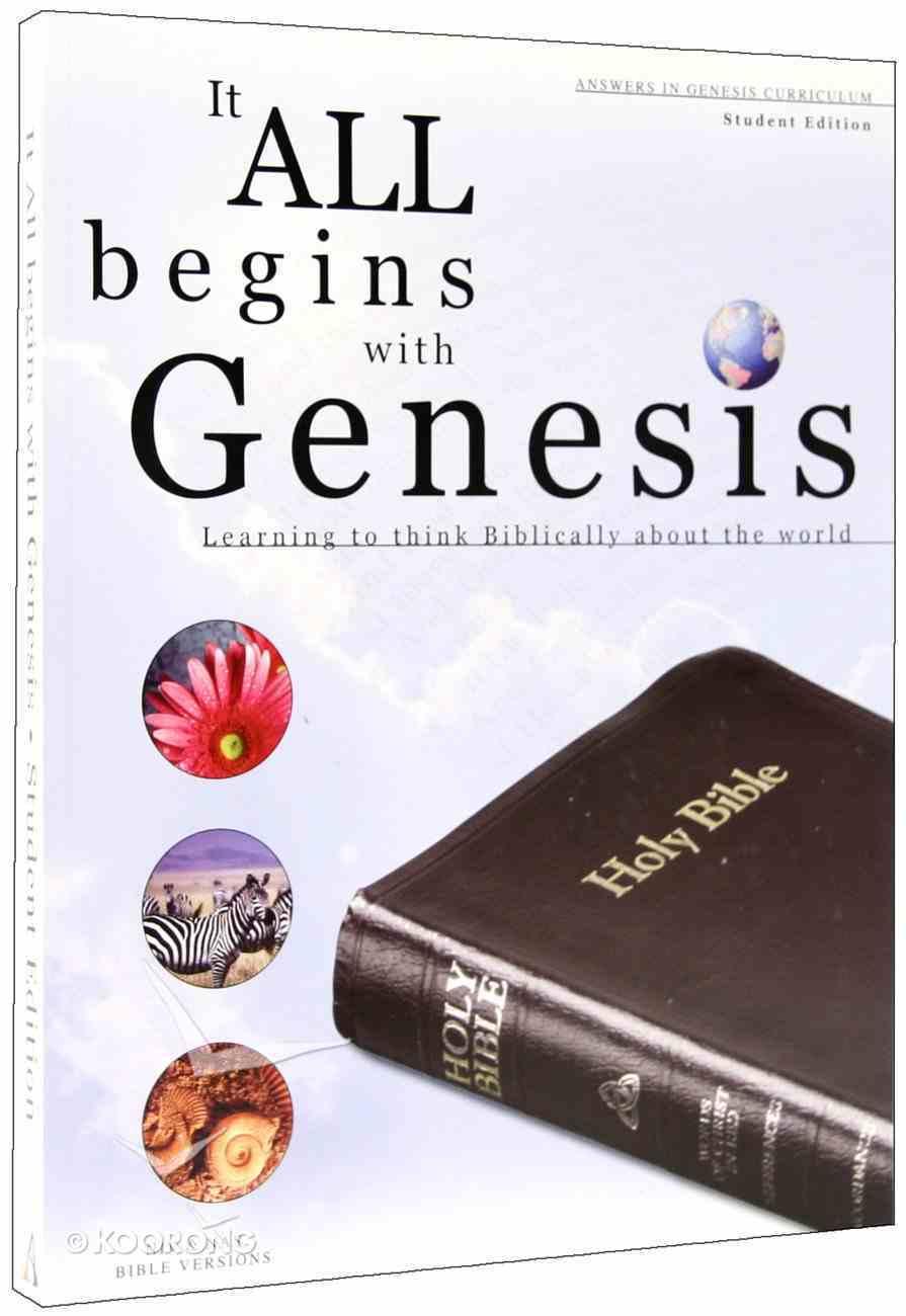 It All Begins With Genesis Niv/Nas (Student Workbook) Paperback