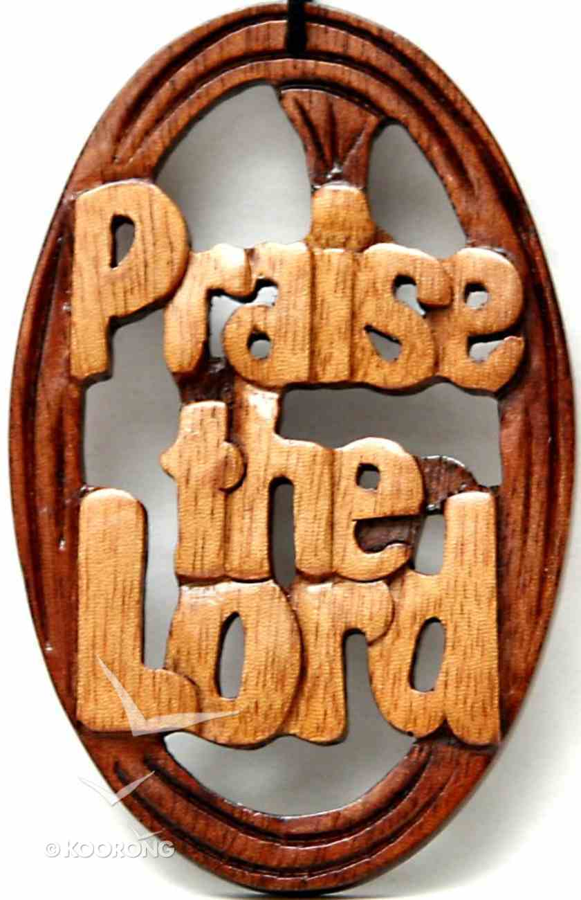 Wooden Hanger: Praise the Lord Plaque