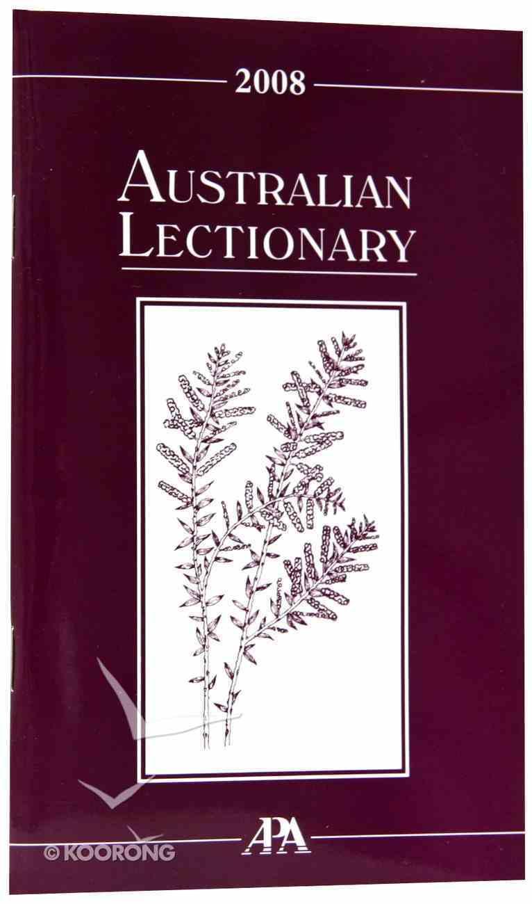 2008 Australian Lectionary Paperback