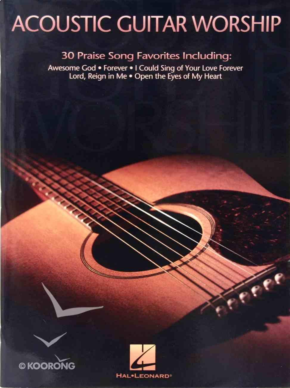 Acoustic Guitar Worship (Music Book) Paperback