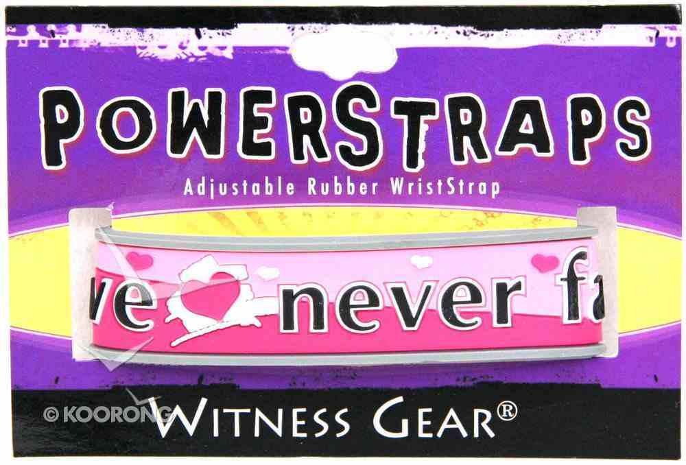 Rubber Wristband: Love Never Fails Jewellery