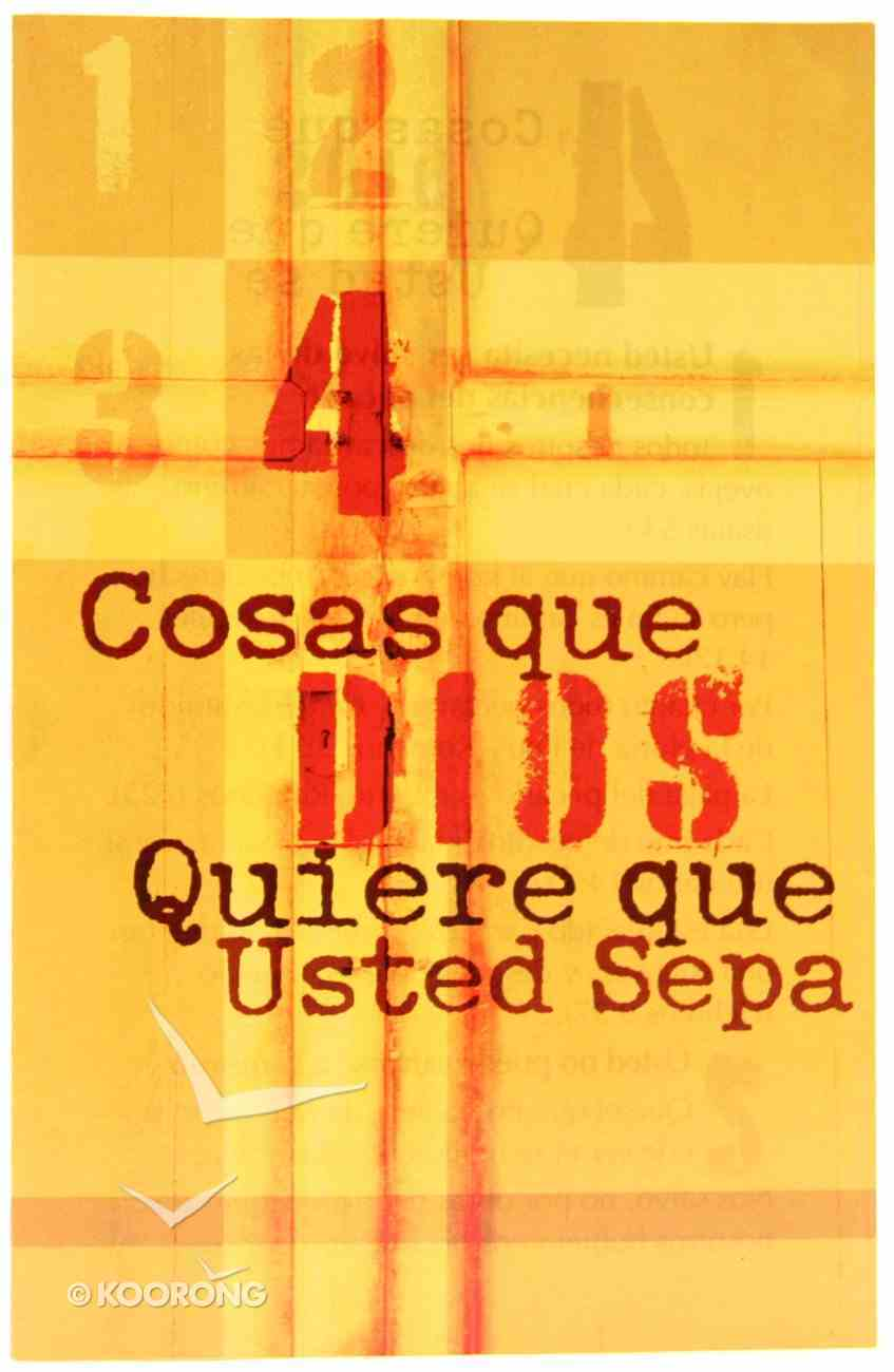 Four Things God Wants You to Know (Spanish, Pack Of 25) Booklet