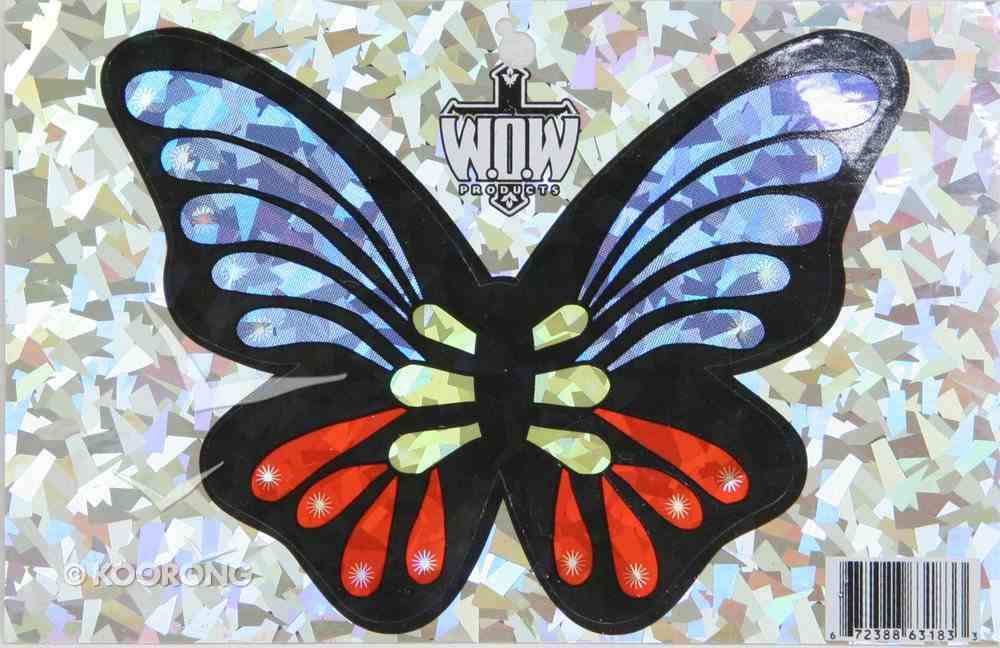 Oval Decals: Butterfly Stickers