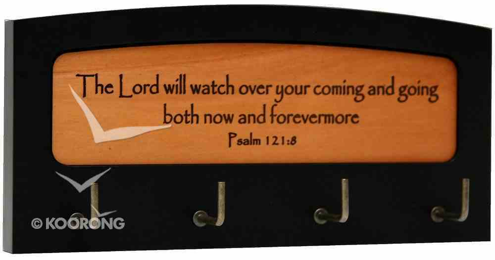 Wooden Keyring Holder: The Lord Will Watch Over You Psalm 121:8 Plaque