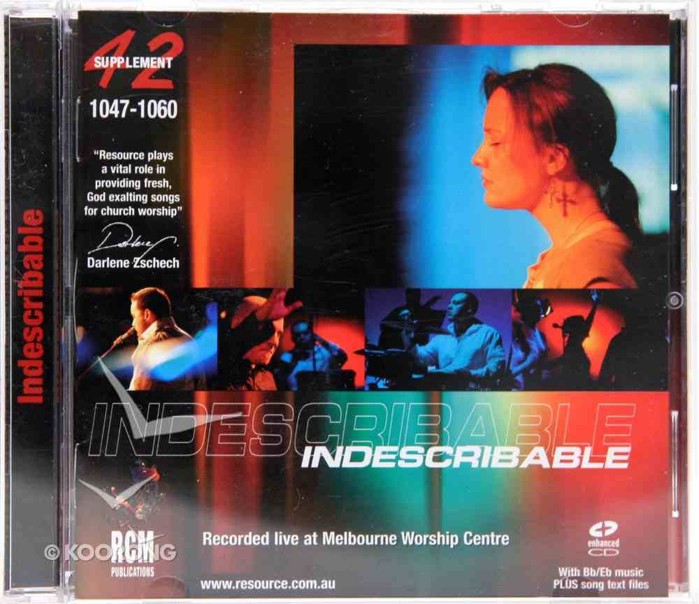 Rcm Volume G: Supplement 42 Indescribable (1047-1060) CD