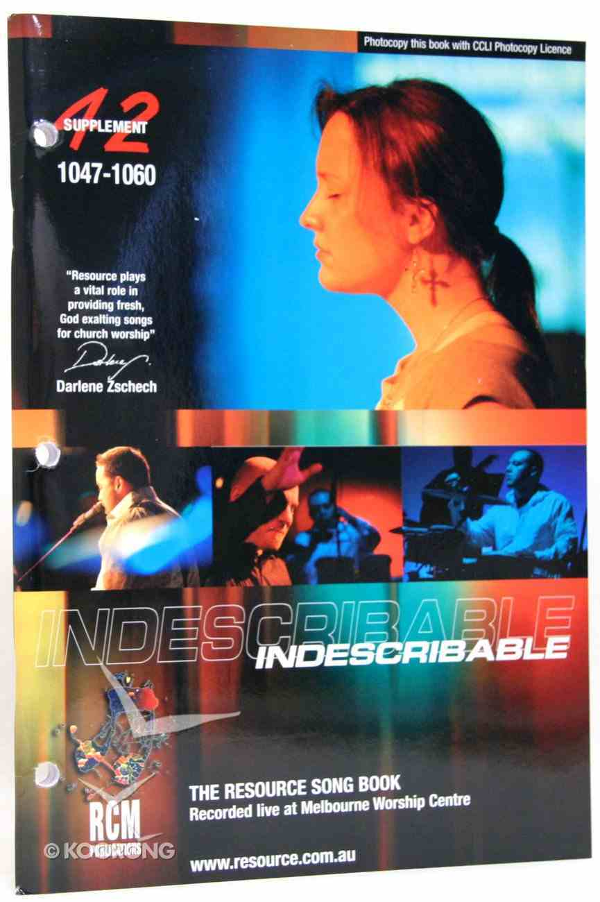 Rcm Volume G: Supplement 42 Indescribable (Musicbook) (1047-1060) Paperback