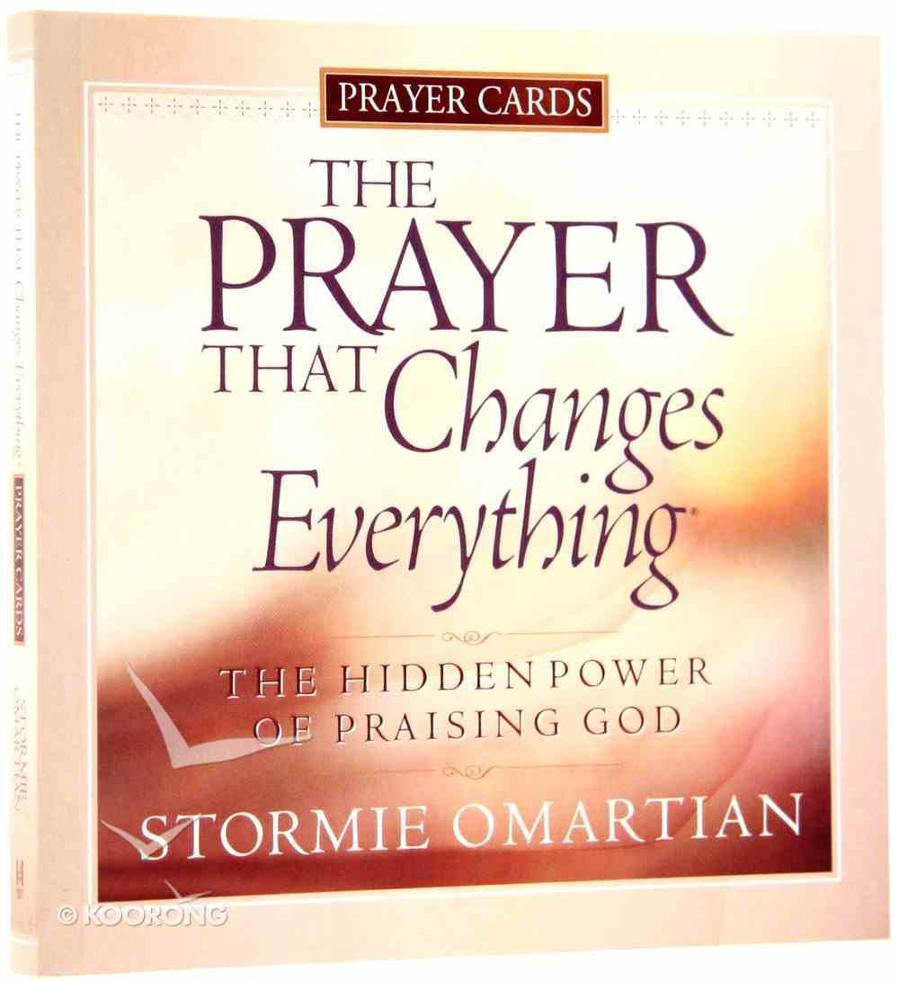 Prayer Cards: The Prayer That Changes Everything Chart/card
