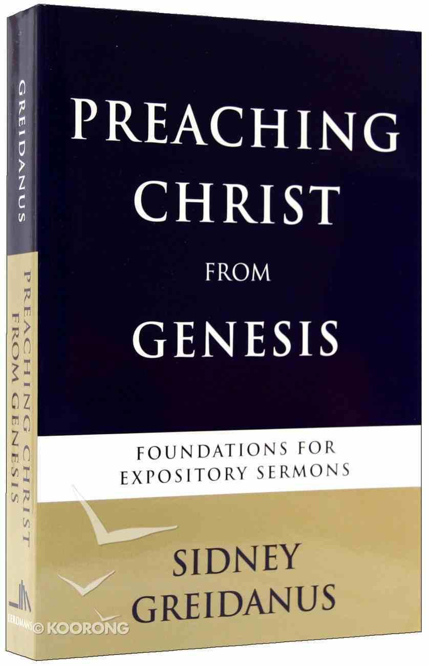 Preaching Christ From Genesis Paperback