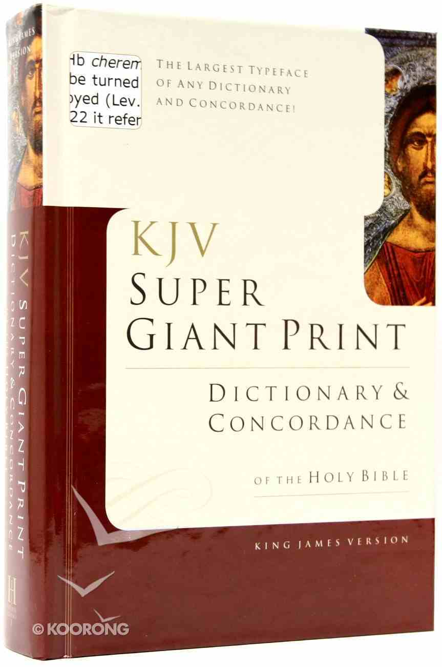 KJV Super Giant Print Dictionary and Concordance Hardback