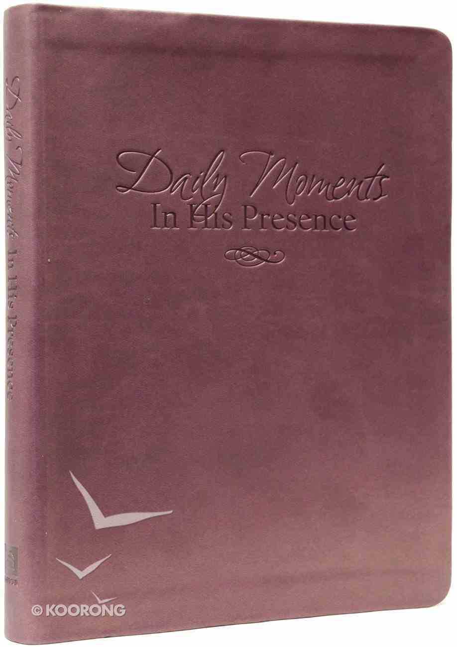 Daily Moments in His Presence (365 Devotional Journal) Hardback