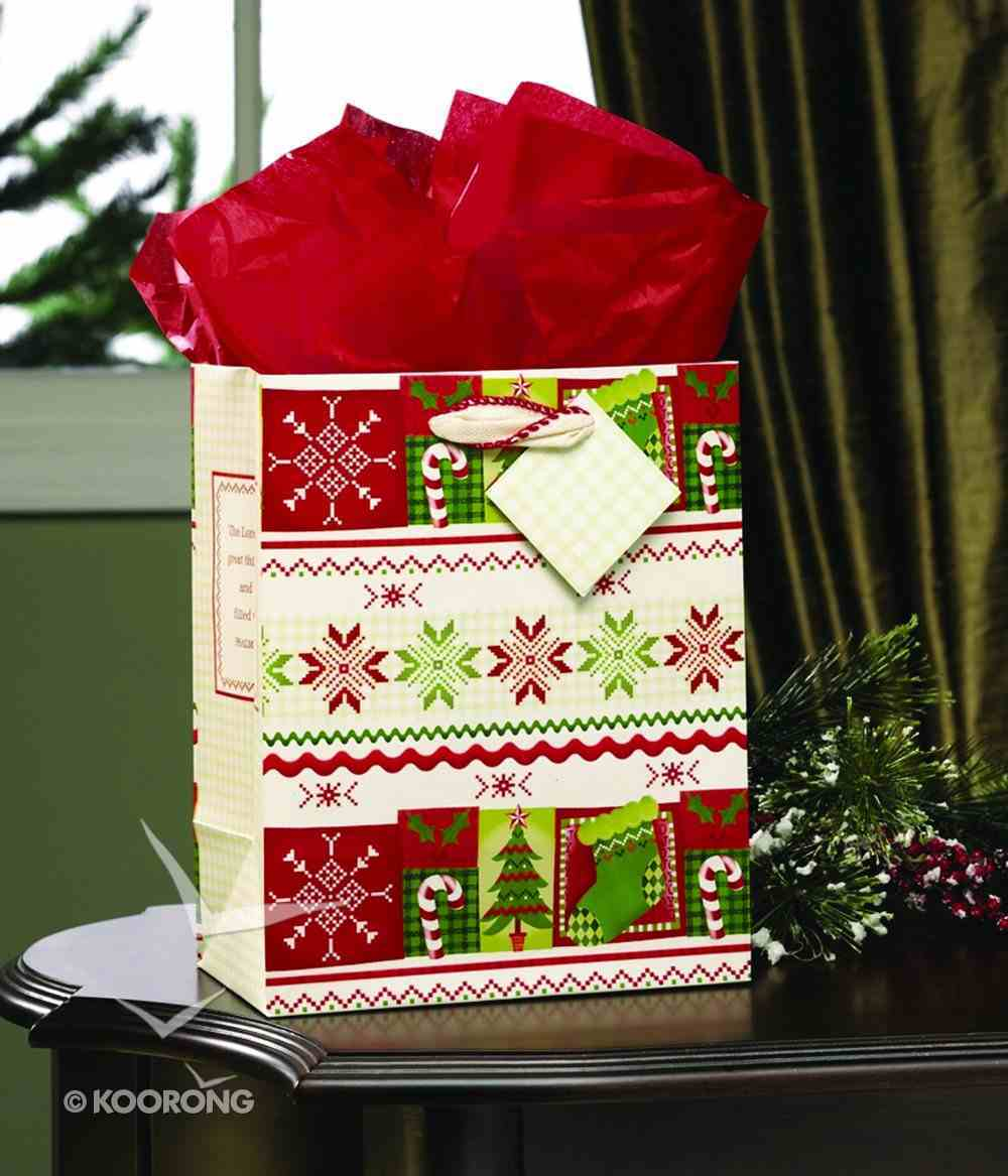 Gift Bag Medium: Christmas Patterns Stationery