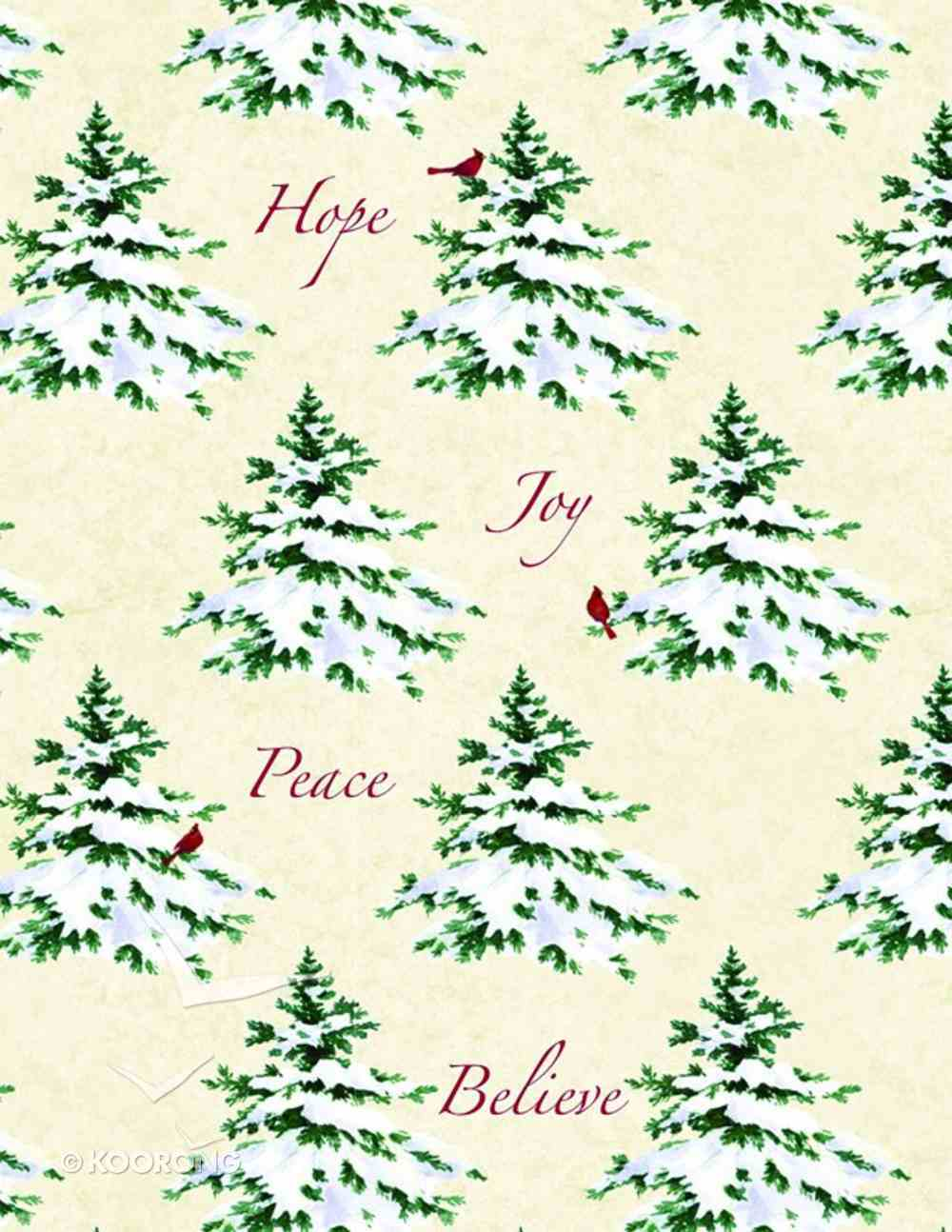 Christmas Roll Wrap: Hope, Joy, Peace Stationery
