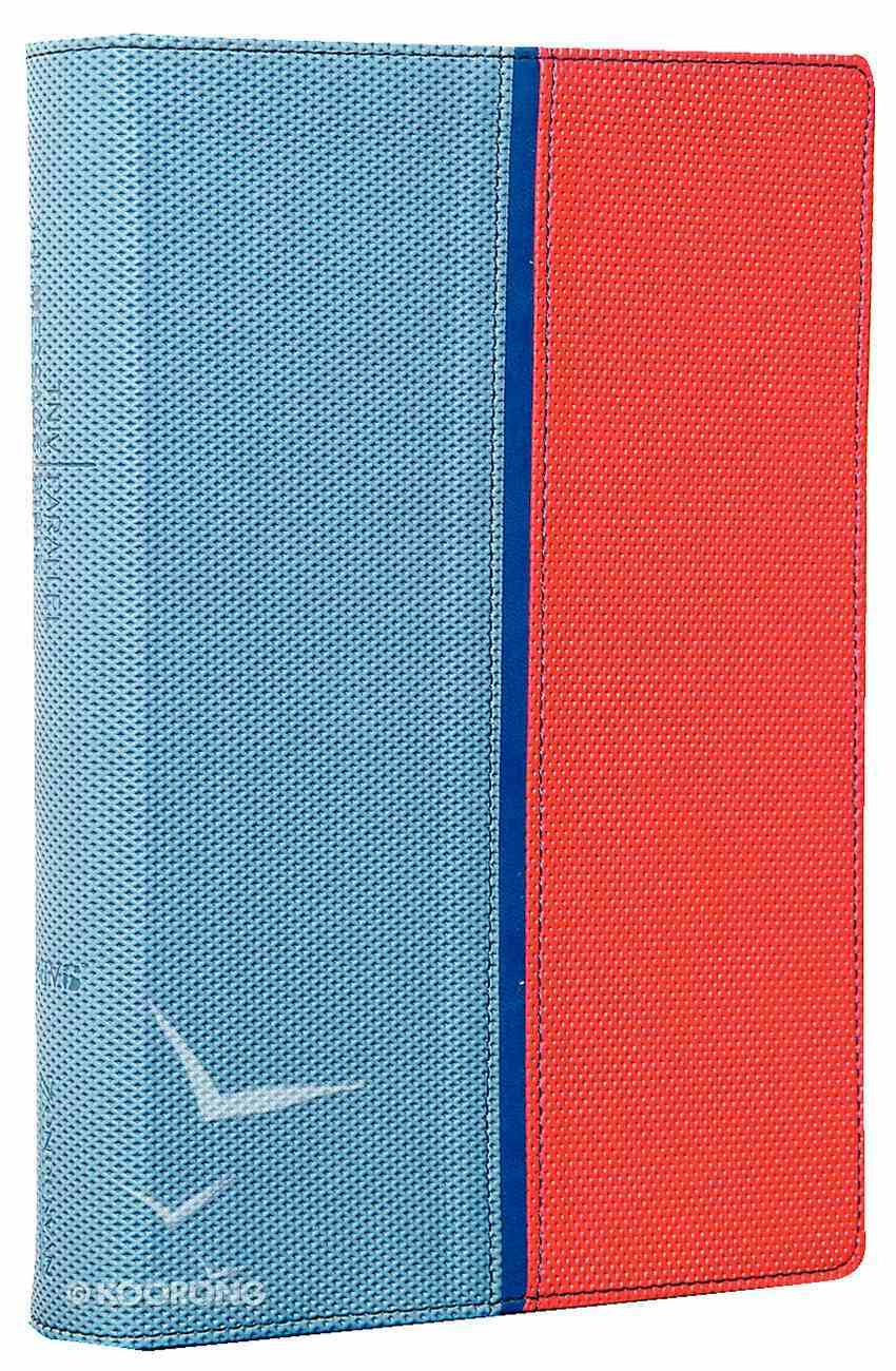 Tniv/The Message Remix Parallel Blue/Red Duo-Tone Imitation Leather