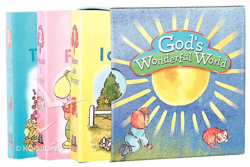 God's Wonderful World 3 Book Set (Things I Can See; Be Happy, Friends I Enjoy) Pack
