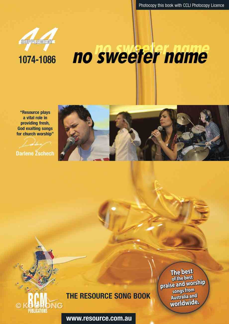 Rcm Volume H: Supplement 44 No Sweeter Name (Musicbook) (1074-1086) Paperback