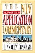 Jeremiah/Lamentations (Niv Application Commentary Series) Hardback