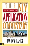 Joel/Obadiah/Malachi (Niv Application Commentary Series) Hardback