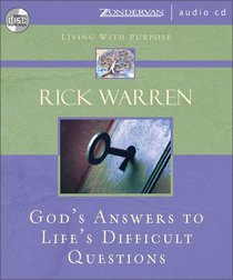 Album Image for God's Answers to Life's Difficult Questions (Living With Purpose Series) - DISC 1