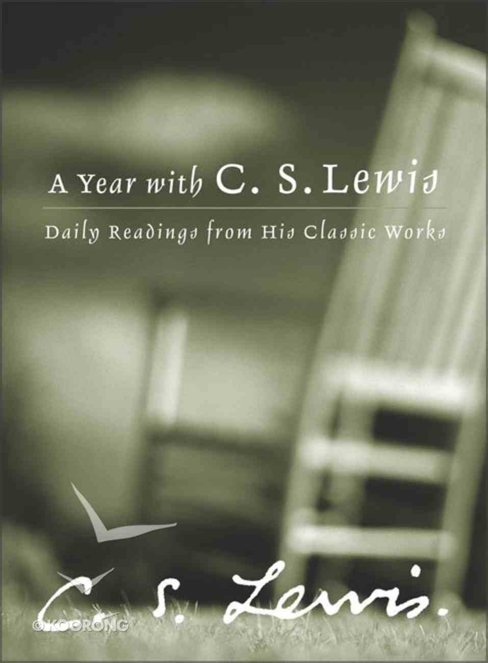 A Year With C.S. Lewis Hardback