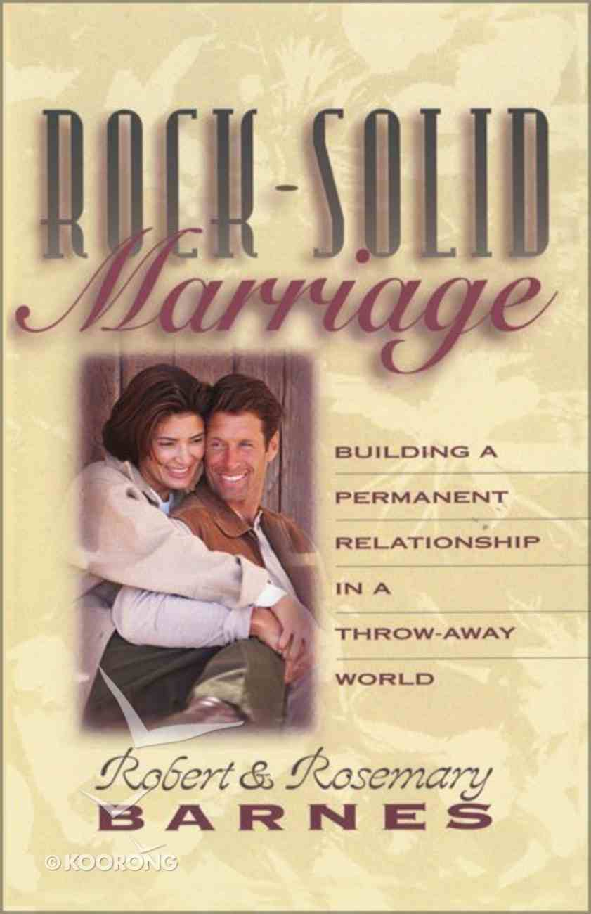 Rock Solid Marriage Paperback