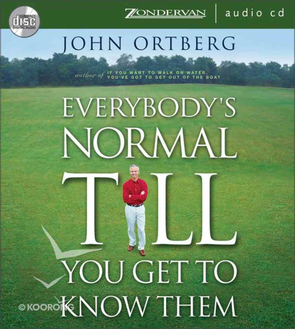 Everybody's Normal Till You Get to Know Them CD