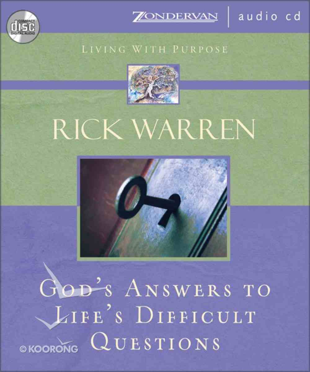 God's Answers to Life's Difficult Questions (Living With Purpose Series) CD