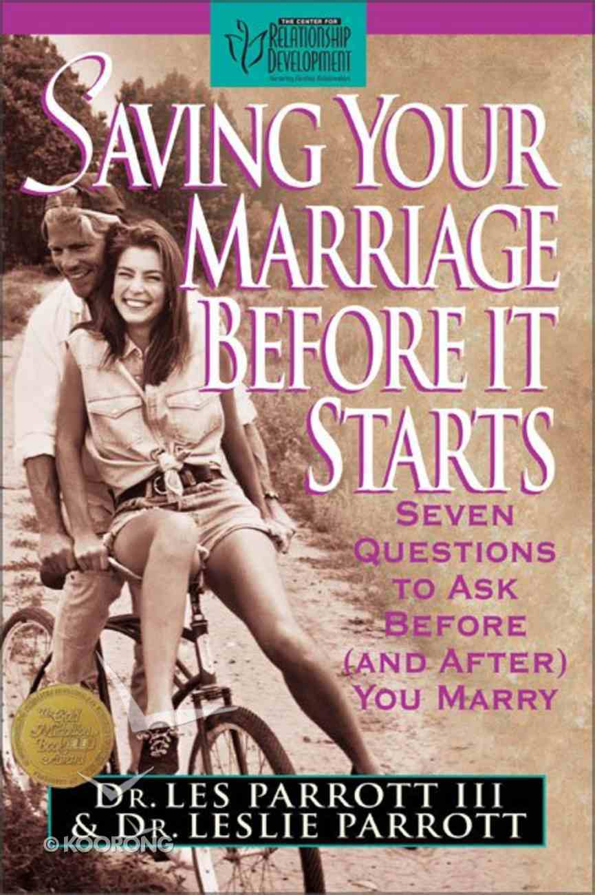 Saving Your Marriage Before It Starts Hardback