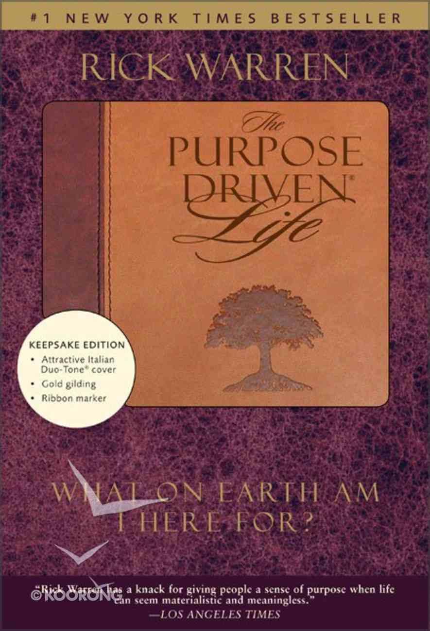 The Purpose Driven Life (Burgundy/Tan Duo Tone) (The Purpose Driven Life Series) Imitation Leather