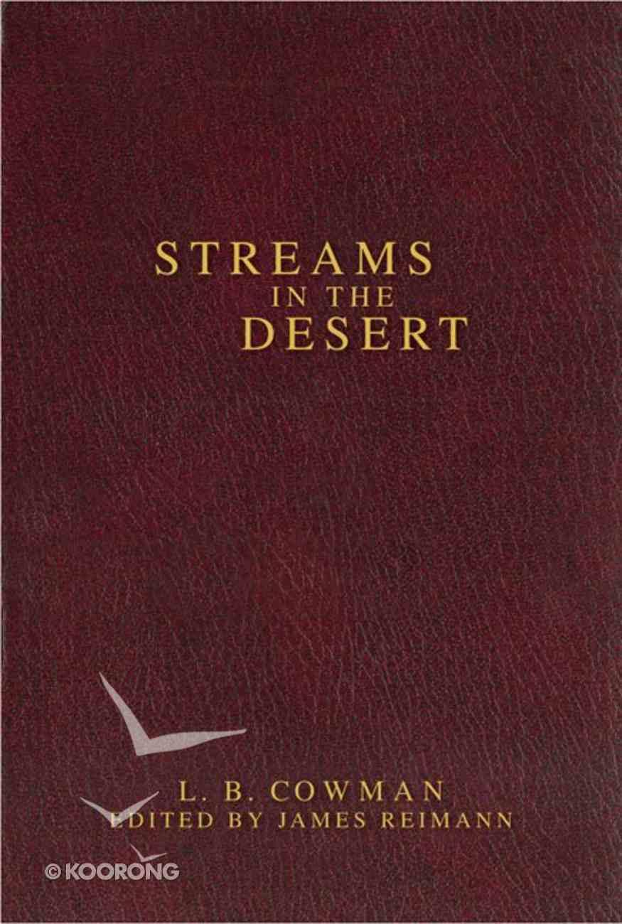 Streams in the Desert (Zondervan Contemporary Classics Series) Hardback