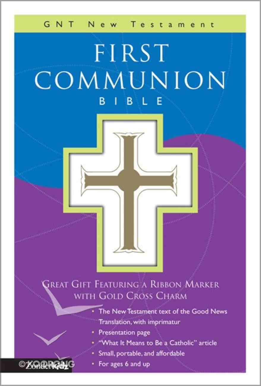 GNB Children's First Communion New Testament With Psalms & Proverbs Compact White Imitation Leather